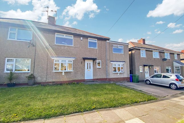 Thumbnail Semi-detached house for sale in Mayfield Avenue, Cramlington