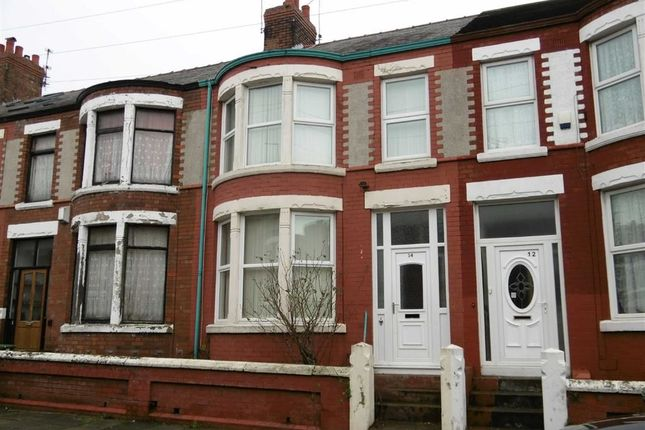Thumbnail Terraced house for sale in Clifford Road, Wallasey, Wirral