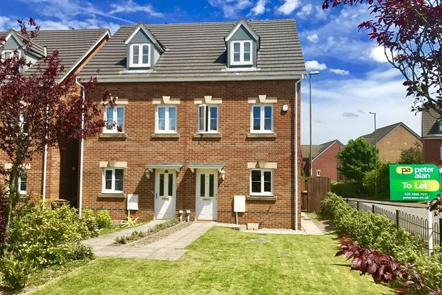 Thumbnail Town house to rent in Ynys Bery Close, Caerphilly