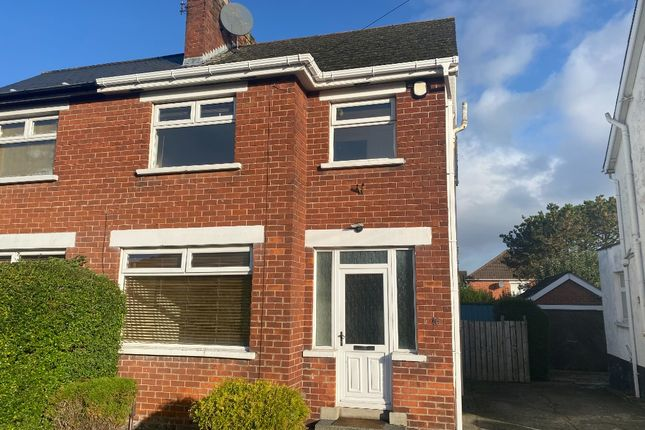 Thumbnail Semi-detached house to rent in Mount Merrion Drive, Belfast