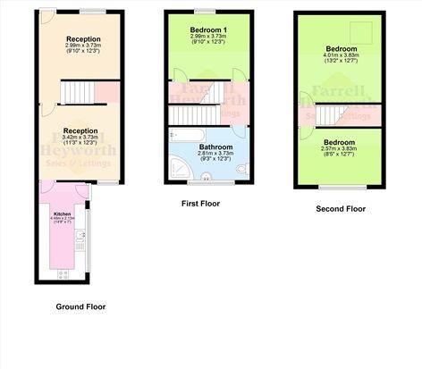 Floor Plan of Wellington Street, Dalton In Furness LA15