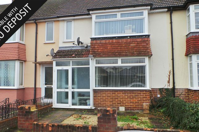 Thumbnail Terraced house to rent in Geoffrey Crescent, Fareham