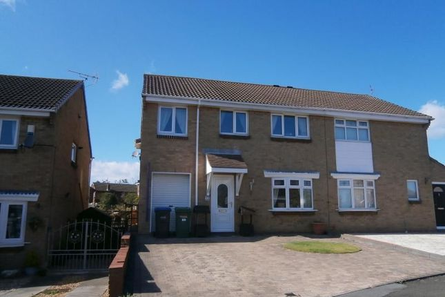 Thumbnail Semi-detached house for sale in Escallond Drive, Dalton-Le-Dale, Seaham