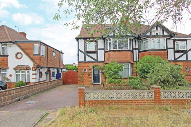 Thumbnail Semi-detached house to rent in Cuddington Avenue, Worcester Park