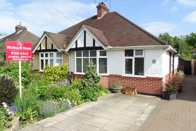 Thumbnail Semi-detached bungalow for sale in Selbourne Avenue KT15 3Rb,