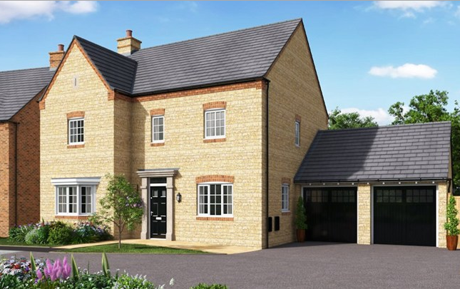Thumbnail Detached house for sale in The Stratford, Newport Pagnell Road, Wootton Fields, Northamptonshire