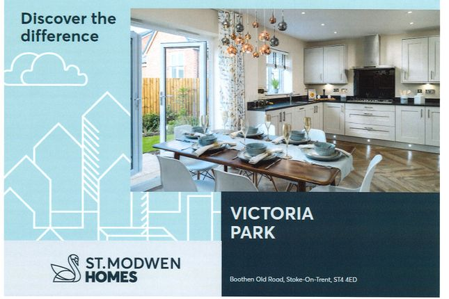 Thumbnail Town house for sale in Victoria Park, Stoke