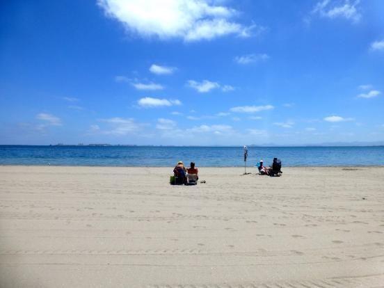 Mijas Beach of Mijas Costa, Costa Del Sol, Andalusia, Spain