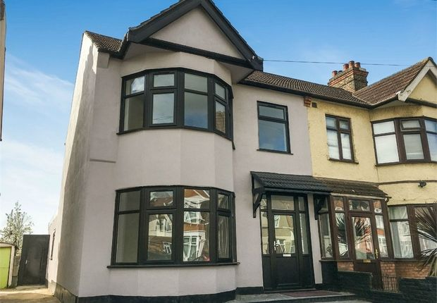 Thumbnail End terrace house for sale in Castleton Road, Goodmayes, Essex