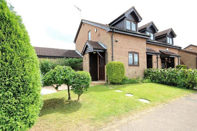 Thumbnail End terrace house to rent in Hayling Drive, Luton