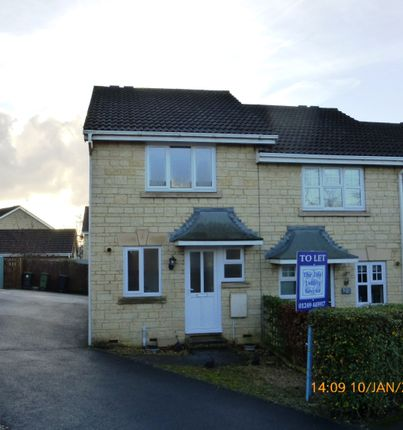 Thumbnail End terrace house to rent in Celandine Way, Chippenham