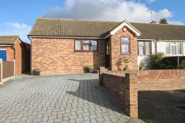 Thumbnail Semi-detached bungalow for sale in Soames Mead, Stondon Massey, Brentwood