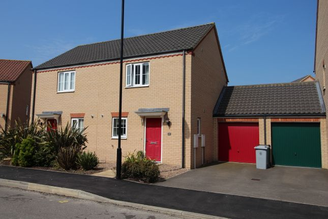Thumbnail Semi-detached house to rent in Goodwood Drive, Bourne
