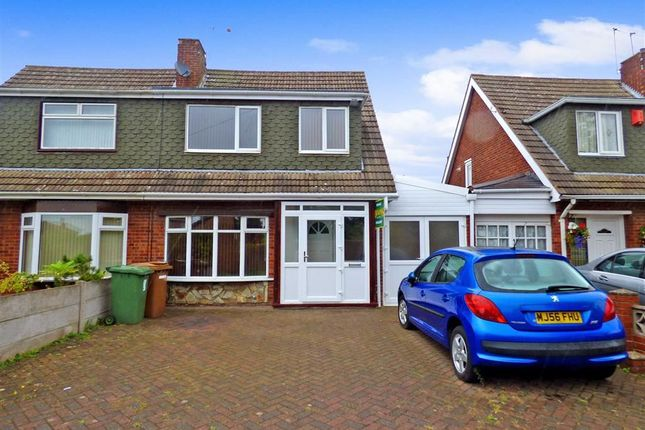Thumbnail Semi-detached house for sale in Harlech Road, Willenhall, West Midlands