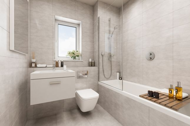 Bathroom CGI of Cross Trees Park, Highworth Road, Shrivenham SN6