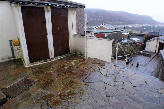 Rear Garden of Oakley Terrace, Penrhiwfer, Tonypandy CF40