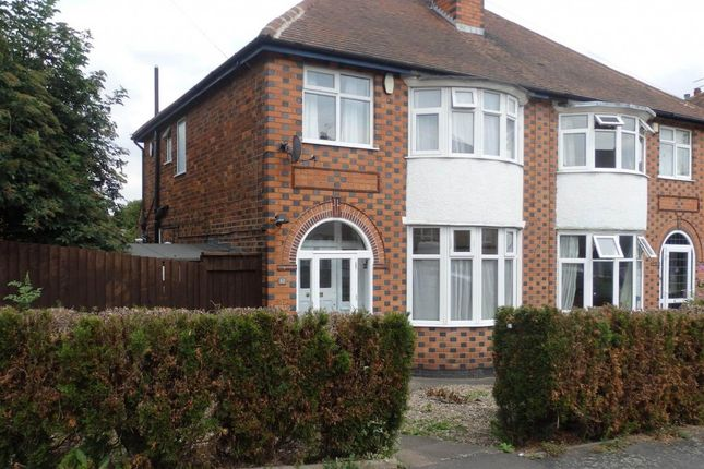 Thumbnail Semi-detached house to rent in Dorchester Road, Western Park, Leicester