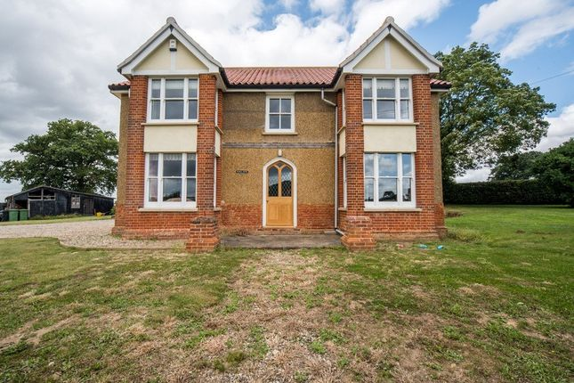 Thumbnail Detached house for sale in Overcross, Banham, Norwich