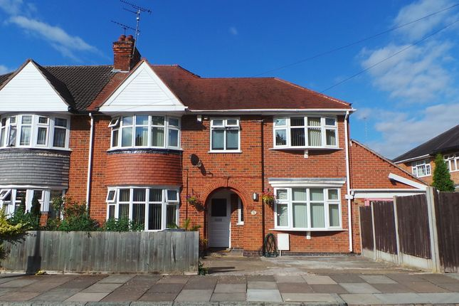 Thumbnail Semi-detached house for sale in Broadway Road, Leicester