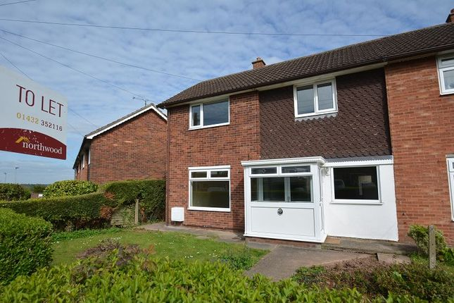 Thumbnail End terrace house to rent in Coleridge Crescent, Hereford