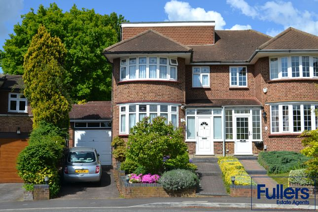 Thumbnail Semi-detached house for sale in Hadley Close, Winchmore Hill