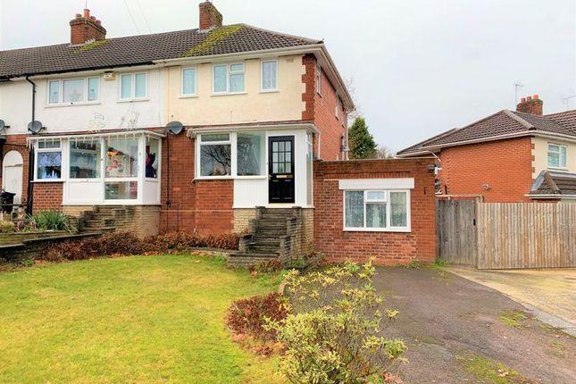 Thumbnail End terrace house for sale in Sir Hiltons Road, Northfield, Birmingham