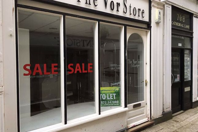 Thumbnail Retail premises to let in Ground Floor Shop, 7, Cathedral Lane, Truro