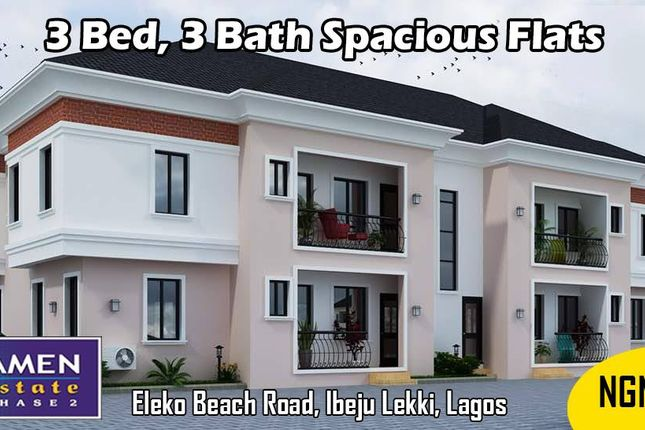 Thumbnail Apartment for sale in Amen Estate Phase 2, Eleko Beach Road, Ajah, Ibeju Lekki, Lagos