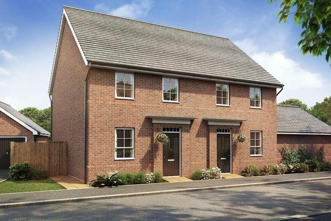"Thumbnail Semi-detached house for sale in ""Leighton"" at Hamble Lane, Bursledon, Southampton"
