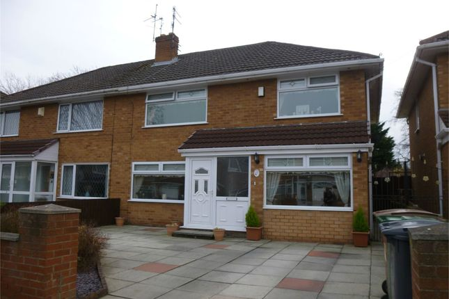 Thumbnail Semi-detached house to rent in Oakland Drive, Upton, Wirral, Merseyside