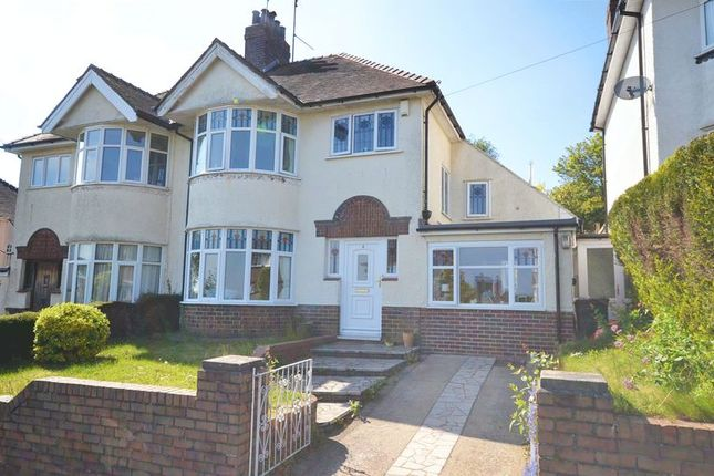 Thumbnail Semi-detached house for sale in Larger Than Average Period House, Ridgeway Grove, Newport