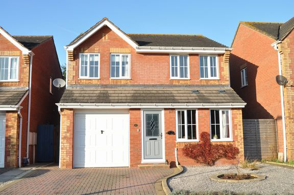 Thumbnail Detached house for sale in Siskin Chase, Cullompton