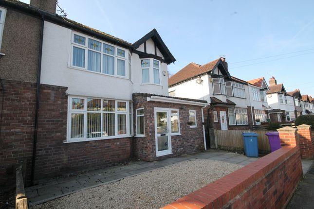 Thumbnail Semi-detached house for sale in Belle Vue Road, Gateacre, Liverpool
