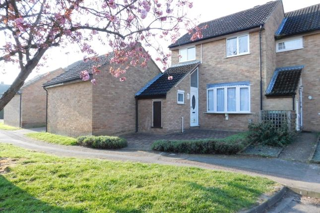 "Thumbnail End terrace house for sale in The Poplars, ""Church End"", Arlesey, Beds"