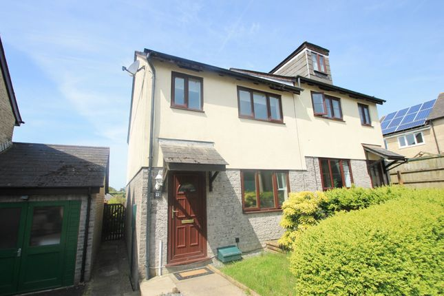 Thumbnail Semi-detached house for sale in Wood Close, Latchbrook, Saltash