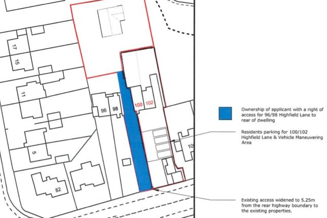Thumbnail Land for sale in Building Plot To The Rear Of, 100 & 102 Highfield Lane, Chesterfield, Derbyshire