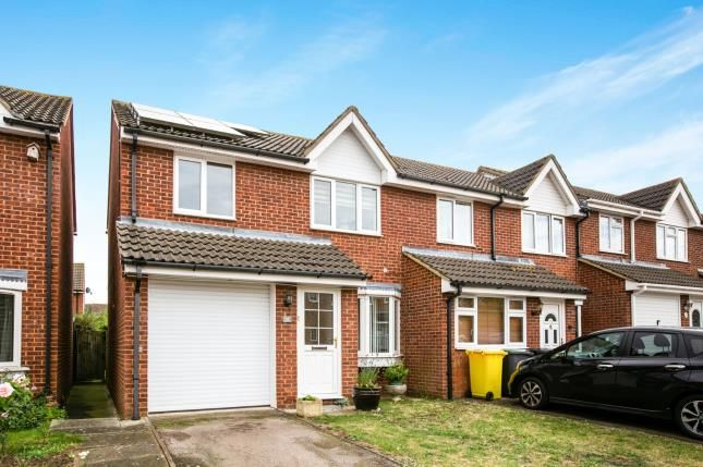 Thumbnail End terrace house for sale in Elgar Drive, Shefford, Bedfordshire