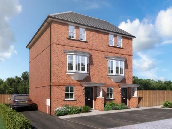 Thumbnail Town house for sale in Off Dykes Way Wincanton
