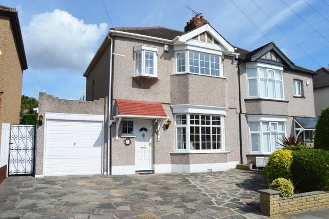 Thumbnail Semi-detached house for sale in Rosslyn Avenue, Harold Wood, Romford