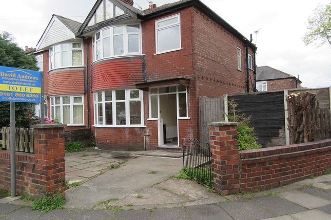 Thumbnail Semi-detached house to rent in Kings Road, Firswood, Manchester