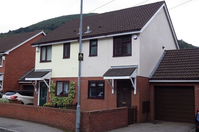 Thumbnail Semi-detached house to rent in Park Street, Cwmcarn, Newport.