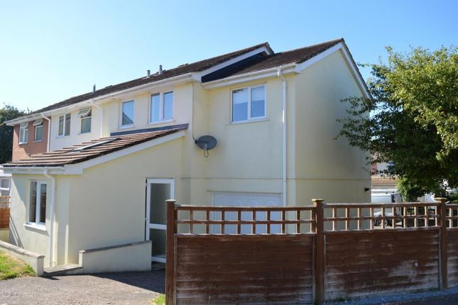 Thumbnail Semi-detached house to rent in Rosewell Close, Honiton, Devon