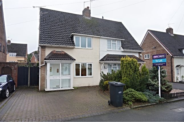 Thumbnail Semi-detached house to rent in Corbyn Road, Dudley