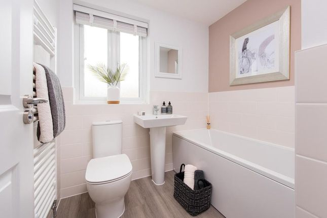 """Family Bathroom of """"Hadley"""" at Spring Grove Gardens, Wharncliffe Side, Sheffield S35"""