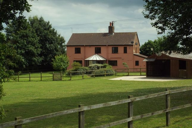 Thumbnail Farmhouse for sale in Suffolk, Burgh St Peter, Near Beccles Equestrian Property