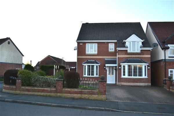 Thumbnail Detached house for sale in Clough House Drive, Leigh