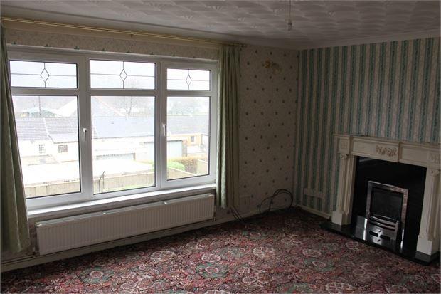 Lounge of Buckley Road, Llwynypia, Tonypandy, Rhondda Cynon Taff. CF40