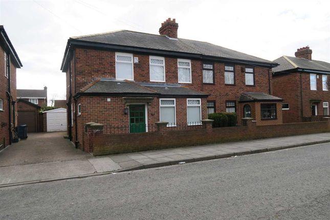 Thumbnail Semi-detached house to rent in South Drive, Hebburn