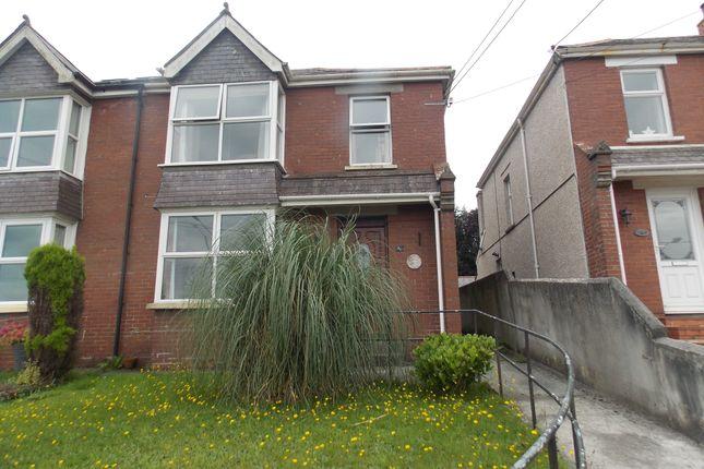 Thumbnail Semi-detached house to rent in Tavistock Road, Launceston, Cornwall