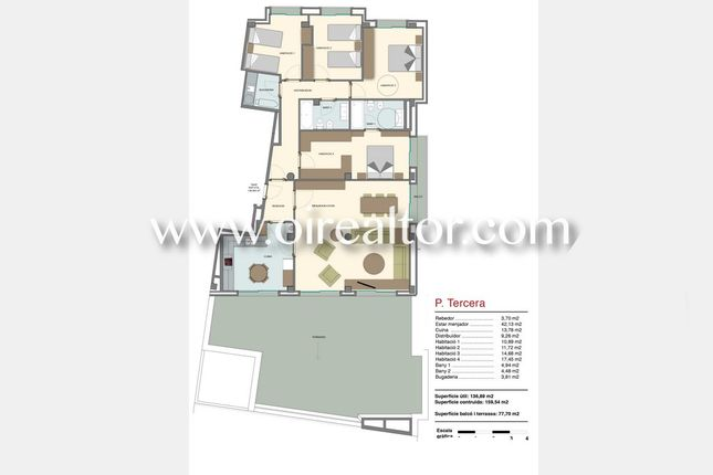 Thumbnail Apartment for sale in Centro, Mataró, Spain